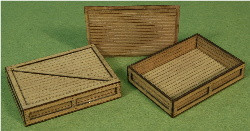 A-SCALE PLANKED CRATE-4 2-PACK