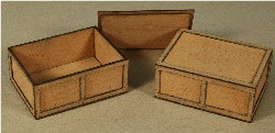 A-SCALE PLYWOOD CRATE-9 2-PACK