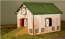 Z-SCALE COMPLETED BARN