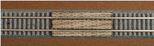 Z-SCALE GRADE CROSSING (STRAIGHT) 2-PACK