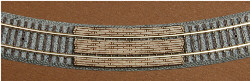 "Z-SCALE GRADE CROSSING (195MM RAD - 7-11/16"" RAD) 2-PACK"