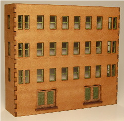 Z-SCALE MODULAR BACKDROP OFFICE 4-WALL-B