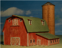 Z-SCALE ELLIS BARN & SILO
