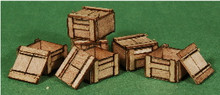 A-SCALE WOOD CRATE-4, 6-PACK
