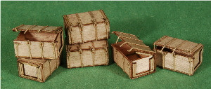 A-SCALE WOOD CRATE-5, 6-PACK