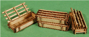 A-SCALE WOOD CRATE-9, 4-PACK
