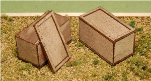 A-SCALE PLYWOOD CRATE-13, 2-PACK