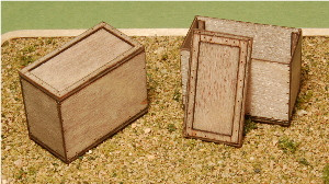 A-SCALE PLYWOOD CRATE-14, 2-PACK