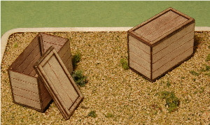 A-SCALE PLANKED CRATE-16, 2-PACK