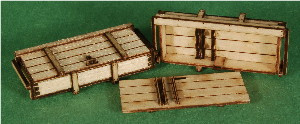 A-SCALE WOOD CRATE-10, 2-PACK