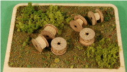 1:35-SCALE CABLE REELS (SMALL) 6-PACK
