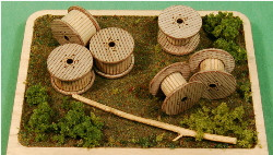 1:35-SCALE CABLE REELS (MEDIUM) 6-PACK