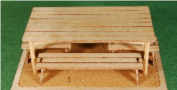 1:35 SCALE TABLE & BENCH SET