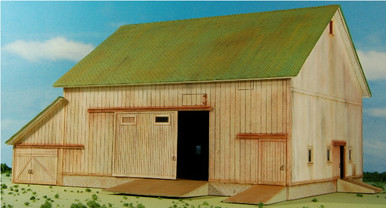 HO-SCALE BARN-1 (WHITE) EFS #6
