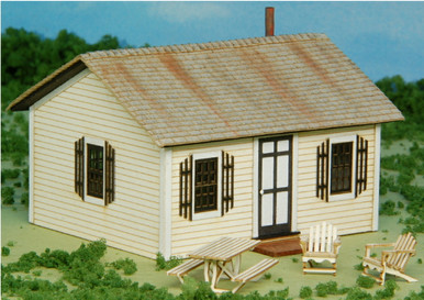 HO-SCALE OPEN HEARTH INN - RENTAL 4-PACK