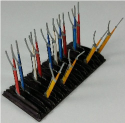O-SCALE LEVERS FOR INTERLOCKING TOWER