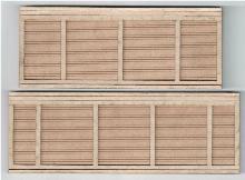 09109 N-SCALE RETAINING WALL CONCRETE 2-PCS