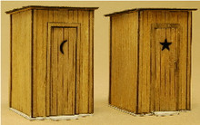 HO-SCALE OUTHOUSE 2-PACK