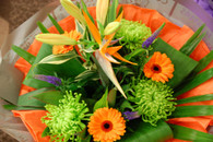 Seasonal strelitzia Bouquet