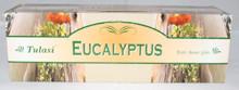 TULASI Eucalyptus Incense sticks 4 X 8 STICK PACKS + 1 FREE INCENSE HOLDER