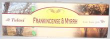 Tulasi Frankincense and Myrrh  Incense sticks 4 X 8 STICK PACKS + 1 FREE INCENSE HOLDER