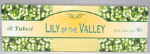 Tulasi Lilly of the Valley Incense sticks 4 X 8 STICK PACKS + 1 FREE INCENSE HOLDER
