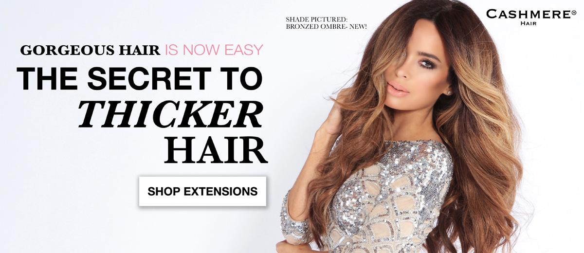 Cashmere Hair Secret to Gorgeous Thicker Hair top quality Remy Clip-in Ombre