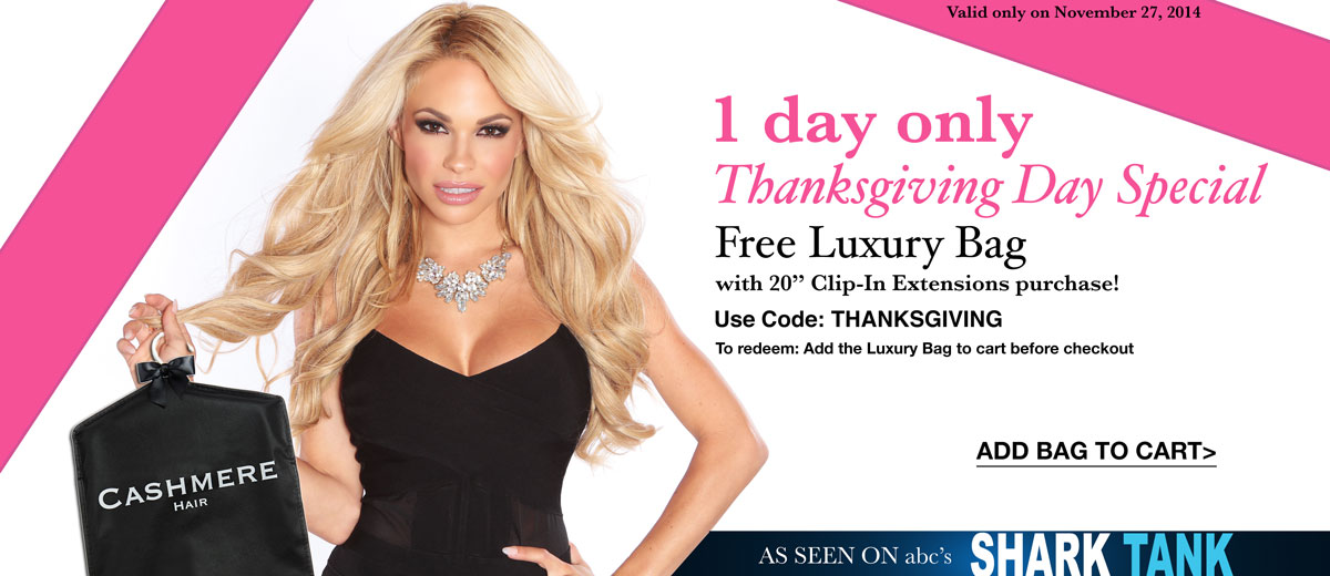 Shop thanksgiving special sale for the best remy clip in hair extensions by Cashmere Hair.