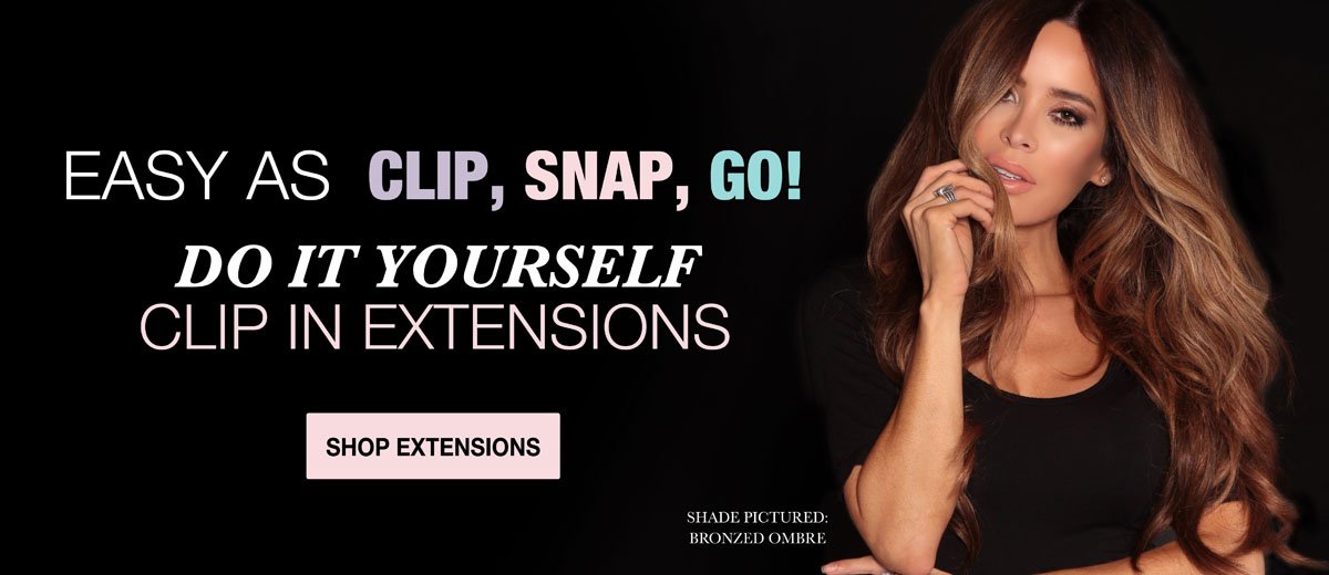 Shop Best indian Remy Clip-In Extensions Ombre, red, brown, and blonde color extensions.