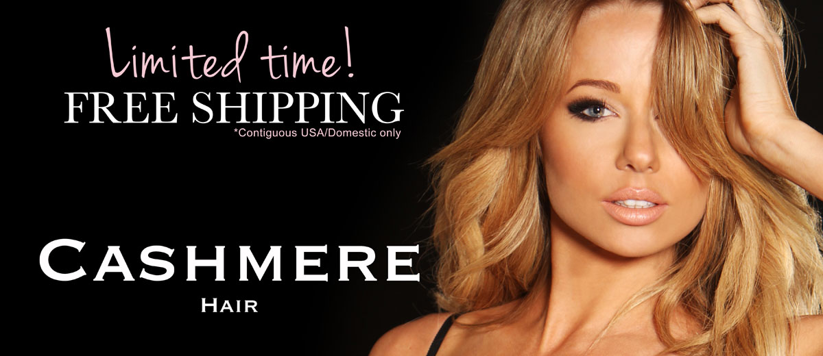 Order cashmere hair clip-in extensions and get free shipping for your remy human clip in extensions.