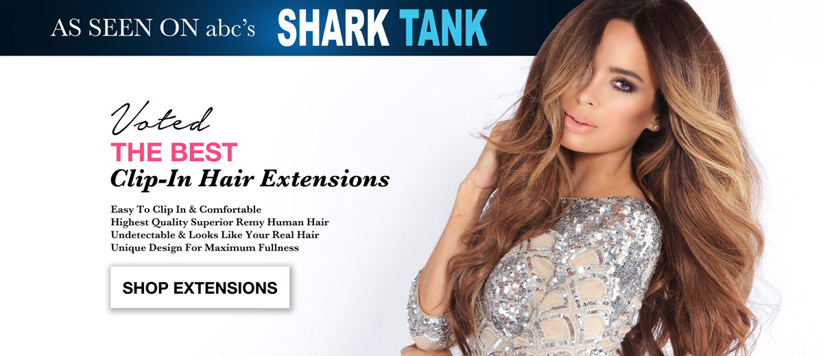 Order the best clip-in hair extensions with the top rated remy hair and seen on abc tv show The Shark Tank.