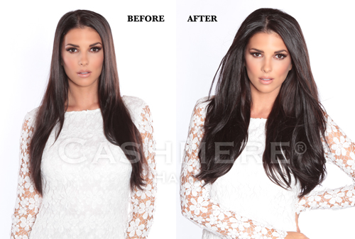 Remy Clip In Hair Extensions Before Amp After Pictures