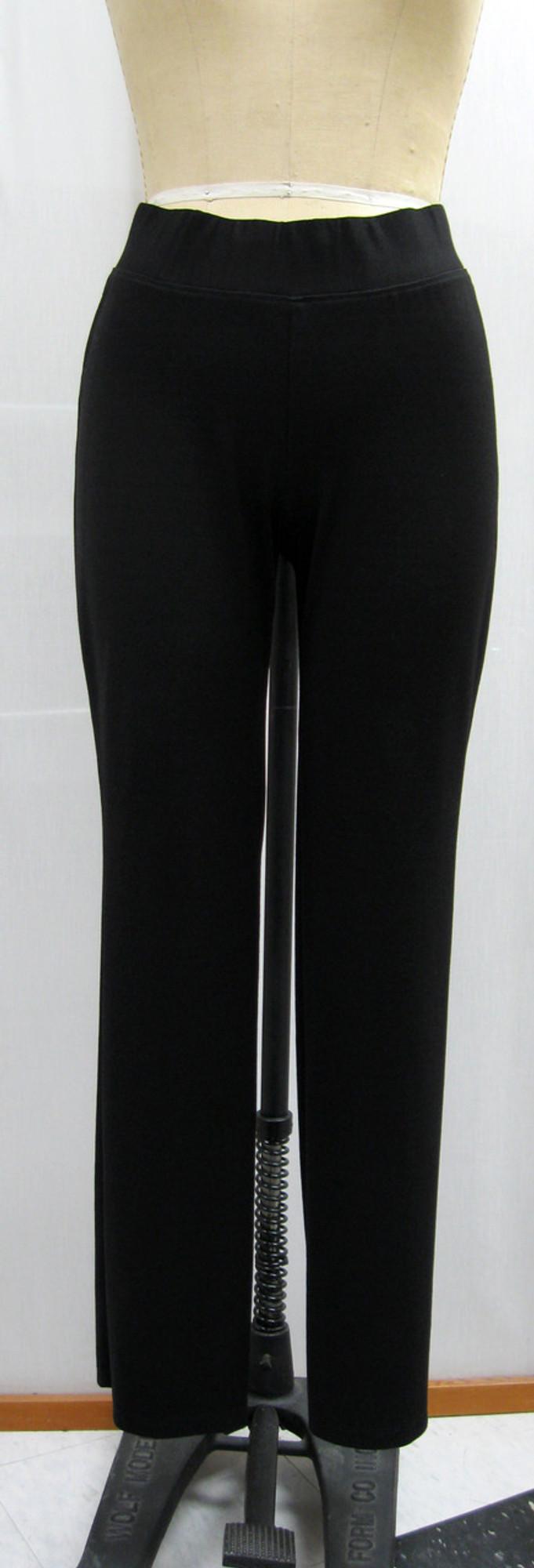 Ponte Knit All Day Slack, Front, Black
