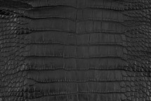 Alligator Skin Belly Matte Black - 40/44 cm - LOW GRADE