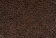 Arapaima Skin Inverted Brown - Small
