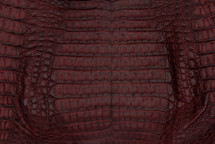 Caiman Skin Belly Matte Burgundy - XS