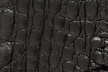 Crocodile Flank Skin Glazed Black