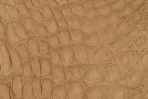Crocodile Flank Skin Matte Tan