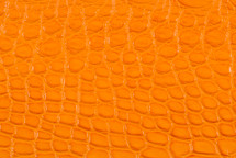 Alligator Flank Skin Matte Orange
