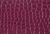 Alligator Flank Skin Matte Plum