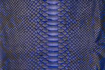 Python Skin Diamond Back Cut Unbleached Matte Cobalt