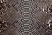 Python Skin Back Cut Unbleached Glazed Grey - Short
