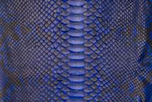 Python Skin Back Cut Unbleached Matte Cobalt - Short