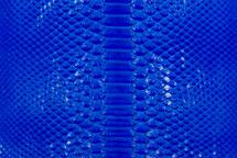 Python Skin Glazed Cobalt