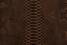 Python Skin Diamond Back Cut Unbleached Matte Brown