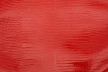 Lizard Skin Glazed Scarlet