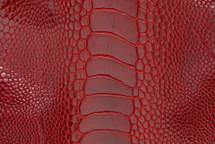 Ostrich Leg Matte Flame Red