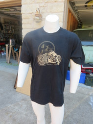 TUCK 4 Cylinder 2 Wheels 1 Blower hot rod t-shirt with Art by Tuck