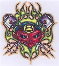 Von Franco Piston Devil Embroidered Patch