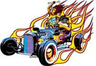 "Hot Roadster Sticker/Decal from Almera - 4 1/2"" Long"
